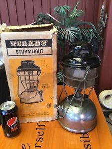Old Tilley Pressure Lamp 1950s Kerosene Lantern X246B With Box