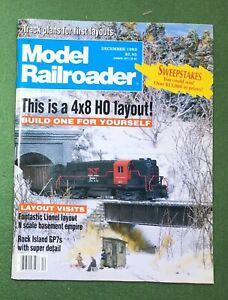 Model Railroader Dec 1992 vintage hobby mag train HO track Locomotive