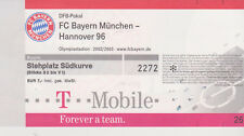 Sammler Used Ticket / Entrada FC Bayern Munchen - Hannover 96 02-11-02 DFB 2nd