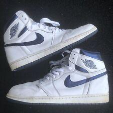 Nike Air Jordan 1 Retro High OG Men's Size 15 Metallic Midnight Navy 555088-106