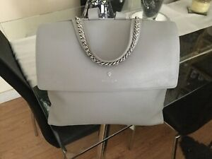 ladies Modalu Dove Grey Leather Handbag