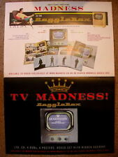MADNESS - SET OF 2x PROMOTIONAL POSTERS FOR THE MEGA RARE GOGGLEBOX CD / DVD SET