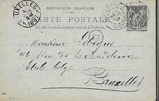 ENTIER  POSTAL  CARTE POSTALE  TYPE SAGE 1897 MAUBEUGE