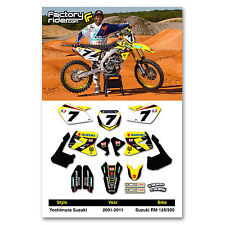 2001-2014 YOSHIMURA SUZUKI RM 125-250 Dirt Bike Graphics kit Motocross Decal