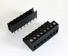 Quick Connect Terminal Block Set, 8 pin Screw Terminals 10 Amps