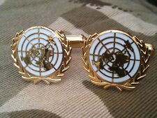 Un United Nations Military Cufflinks White