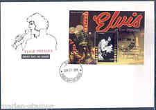"TUVALU 2012 ELVIS PRESLEY"" ELVIS ON TOUR"" SOUVENIR SHEET IV FDC"