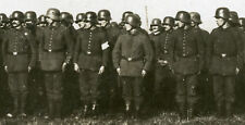 ANTIQUE WW1 ERA GERMAN SOLDIER COMMANDER HELMET UNIFORMS POSTMARK PHOTO RPPC