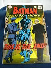 Batman # 206 Nov 1968 Silver Age Vg+ Batman Walks the Last Mile Novick/ Giella