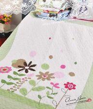 Green Daisy Boy/Girl Nursery Quilt Cot bed/Sofa/Chair Throw/Blanket Coverlet