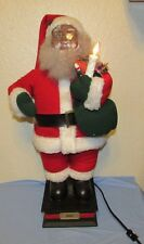 """African American Santa Claus 25"""" Animated Lighted   Noel 1993 Holiday Creations"""