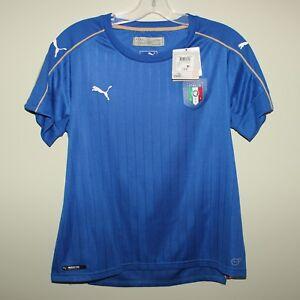 BNWT Italy Italia women Puma football soccer shirt jersey US XL UK 16 Azzurri