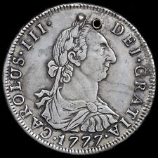 Spain, Potosi. Silver 4 Reales, 1777. Pierced As Touch Piece. Colonial Interest.