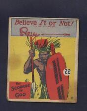 RIPLEY'S BELIEVE IT OR NOT Card #22 Wolverine Gum  1937 R21 Scourge of God