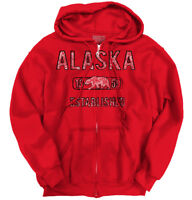 Alaska State Pride T Shirt State Flag USA Bear Shirt Gift Idea Zipper Hoodie