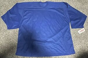 NWT 10100 CCM Hockey Practice Jersey Royal Blue Adult XXL Men's 2XL Solid