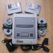 Super Nintendo Snes + Super Mario All Stars + Streetfighter 2 Turbo Games