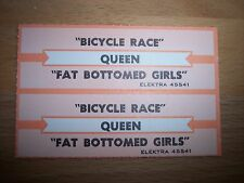 "2 Queen Bicycle Race/Fat Bottomed Girls Jukebox Title Strips CD 7"" 45RPM Records"