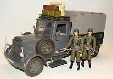 1:18  WWII German Cargo Truck Carrier  w/ Elite Forces BBI 21st Century Figures