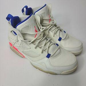"Nike Air Jordan Flightclub '91 ""UltraMarine"" Shoes White Pink Mens Size 10 Used"