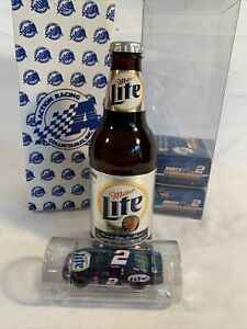 2002 1/64 Action Rusty Wallace #2 Miller Lite Car In A Bottle