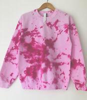 TIE DYE pink winter jumper sweater baggy zara  casual  hoodie oversize UK 8-22
