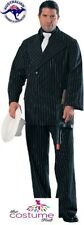 1920s Mens Tall Great Gatsby Gangster pinstripe Speakeasy suit Costume Size XL