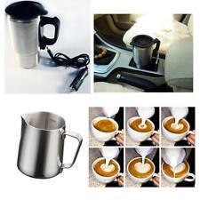 350ml Stainless Steel Coffee Frothing Mug + 450ml Heated Travel Thermal Mug