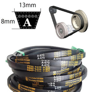 8mm x 13mm V-Belt  A Section Sizes A15~A59 For Industrial LawnMower New