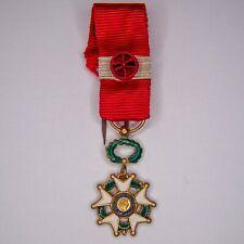 Médaille de commandeur de la légion d'honneur en miniature.  Médaille uni face e