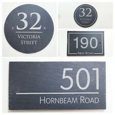 Welsh Slate House Sign Plaque Door Number Engraved Natural Quality Gate