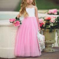 Blumenmadchen Prinzessin Kleid Party Hochzeit Madchen Kommunion Maxi Abendkleid