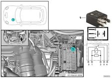 592-BMW Mini 5-Pin Relief, Terminal 15 K6326 & Wiper 1 K36 Relay 61361472984