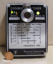 WEINSCHEL ENGINEERING DOUBLE STUB TUNER BASE ... MODEL DS109L ... NO ACCESSORIES