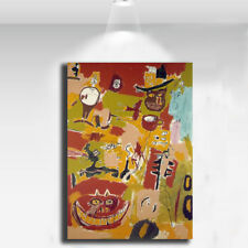 "Jean Michel Basquiat ""Wine of Babylon"" HD print on canvas wall picture 36x24"""