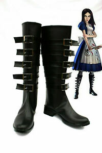 Alice Madness Returns Cosplay Shoes Anime Boots New