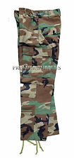 Genuine US Army Woodland M65 BDU Trousers Pants, Size Large Long, NEW