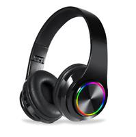 LED Wireless Bluetooth Headset Stereo Headphones Earphone Handfree For Universal