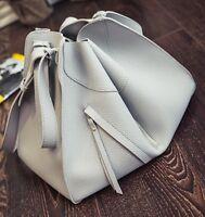 Stylish Large Tote Satchel Crossbody Handbag Black Brown Grey