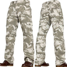 Mens Army Military Combats Camo Cargo Hiking Trousers Jeans Pants