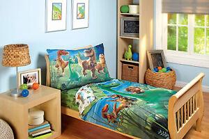 Juego De Sabanas Para Cama De Ninos Chicos Dinosaurios Toddler Bedding Set 4 Pcs