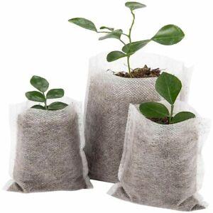 Nursery Pots Plant fiber Seedling Raising Bags Home Garden Supplies houses 100X