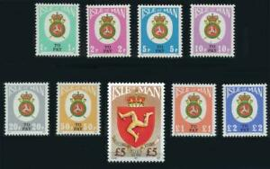 Isle of Man: 1982 Third Issue Postage Dues (J17-J25) MNH