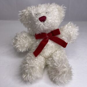 """Vintage 9"""" Ganz BEAR Heritage Collection 1980's White Christmas Teddy Bear"""