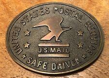 Vintage 1970's United States Postal Service USPS Safe Driver Belt Buckle