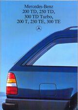 Mercedes-Benz W124 Estates sales brochure Oct 1985 Italian market