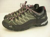 Women's sz 8 M Salewa 3F WS ALP TRAINER Mountaineering Hiking Shoes Slate Mint