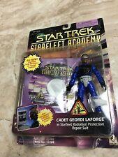 Vintage Star Trek Star Fleet Academy 1996 Playmates Cadet Geordi LaForge Toy