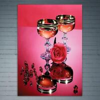 DIY Wineglass 5D Full Drill Diamond Painting Cross Stitch Kits Decor