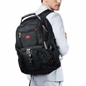 """Swiss 17"""" Men Laptop Travel Scan Smart School Backpack Rucksack Outdoor Bag"""